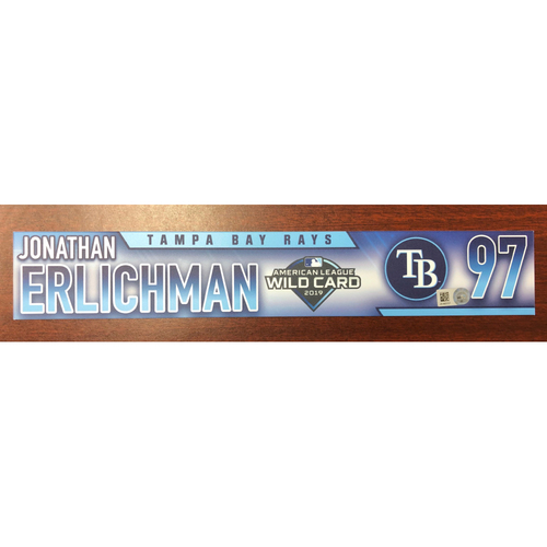 Photo of Game Used A.L. Wild Card Locker Tag: Jonathan Erlichman