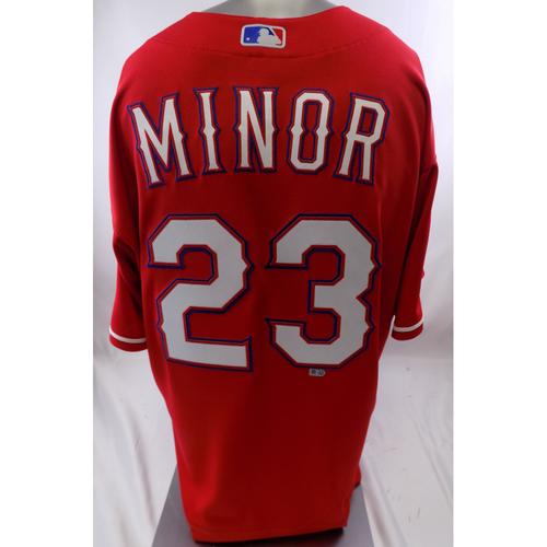 Photo of Red Team-Issued Jersey - Mike Minor - 10/8/19