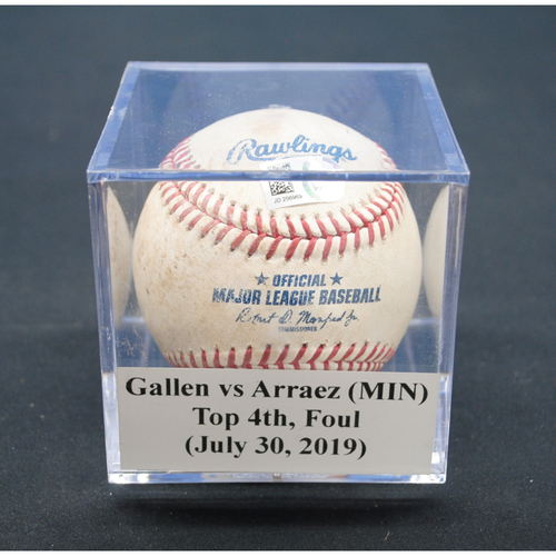 Photo of Game-Used Baseball: Zac Gallen vs Luis Arraez (MIN), Top 4th, Foul - July 30, 2019