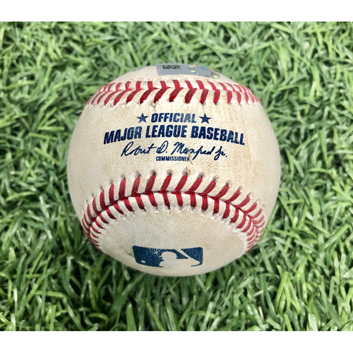 Photo of Game Used Baseball: Ji-Man Choi foul ball off Tyler Glasnow - Intrasquad Game - July 21, 2020