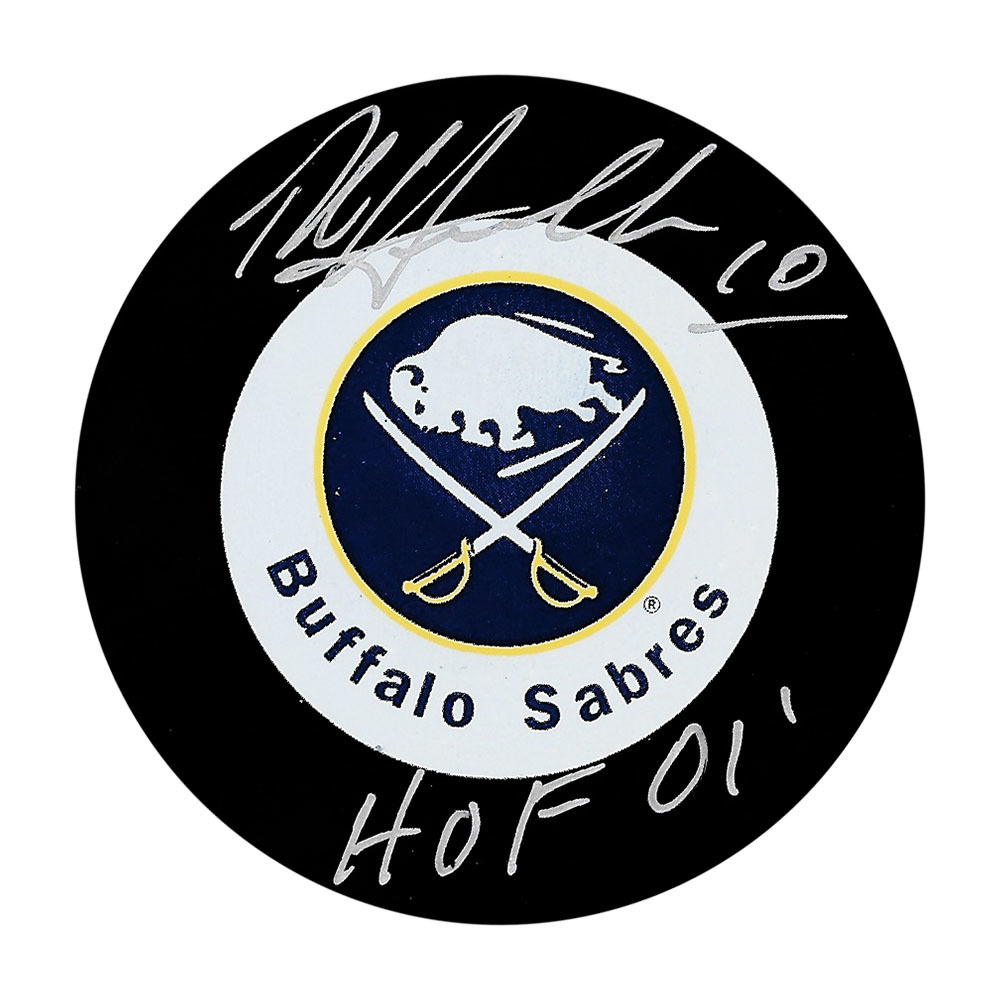 Dale Hawerchuk Autographed Buffalo Sabres Puck w/HOF 01 Inscription