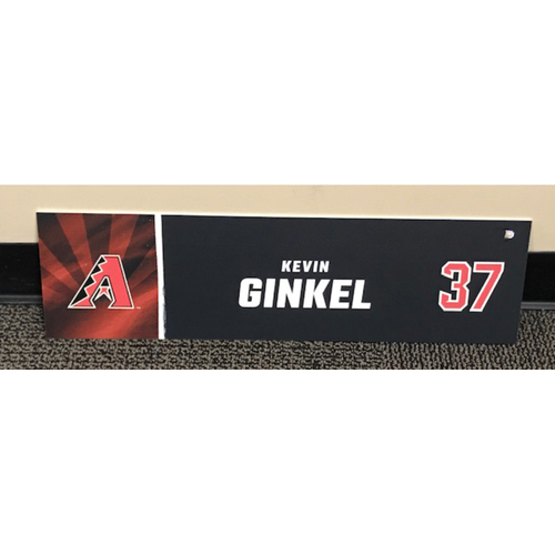 Photo of Kevin Ginkel 2020 Season Team-Issued Locker Name Plate