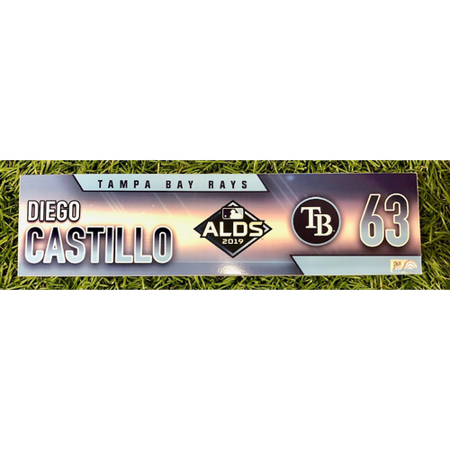 Photo of Rays Baseball Foundation: Game Used Locker Tag: Diego Castillo - ALDS - October 4, 5 and 10, 2019 at HOU