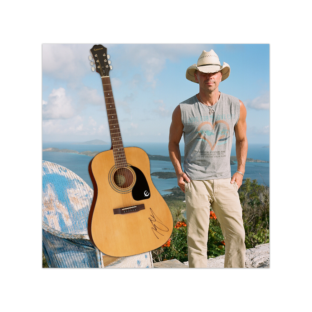 Lions - Kenny Chesney Signed Guitar and 2 tickets to a show in 2022