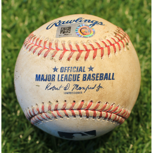 Photo of Game-Used Baseball: Josh Bell 482nd Career Hit (PIT @ KC 9/11/20)