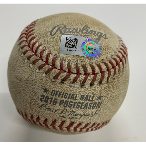 Photo of Game-Used Baseball - 10/19/2016 Indians at Blue Jays - ALCS Game 5 Cody Allen Pitch to Troy Tulowitzki - Ball in Dirt
