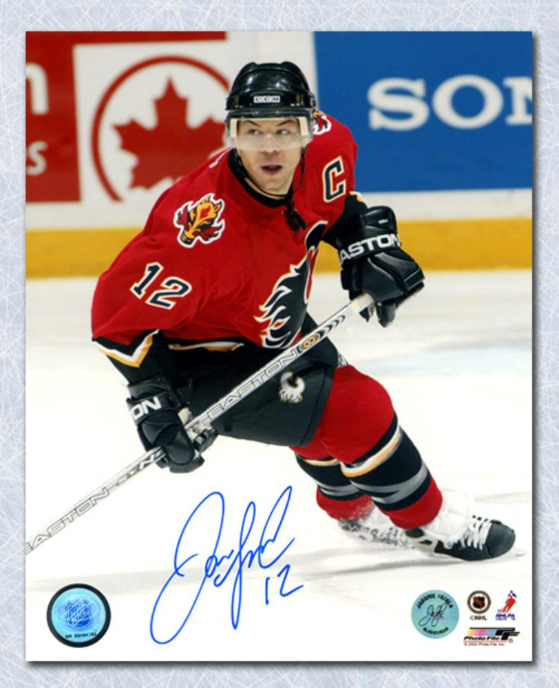 Jarome Iginla Calgary Flames Autographed Action 8x10 Photo