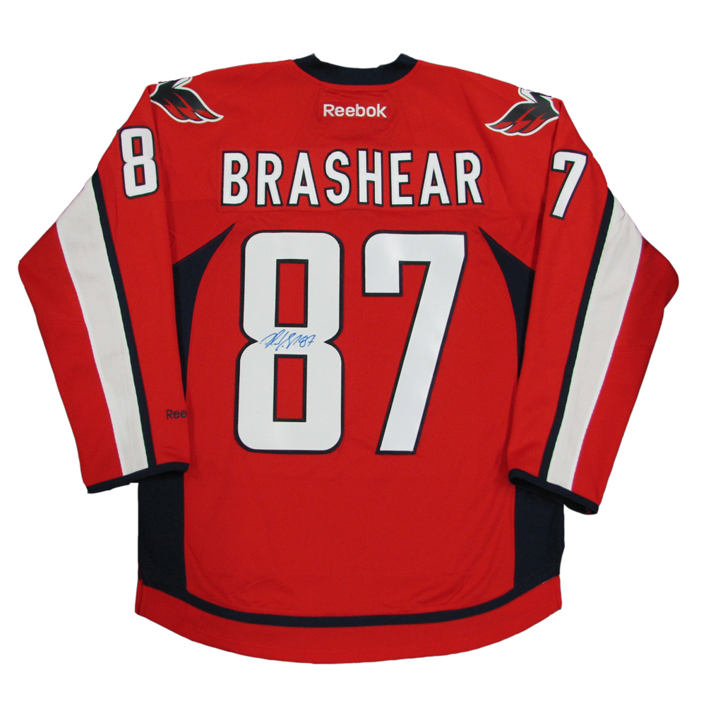 DONALD BRASHEAR Signed Washington Capitals Red Reebok Jersey