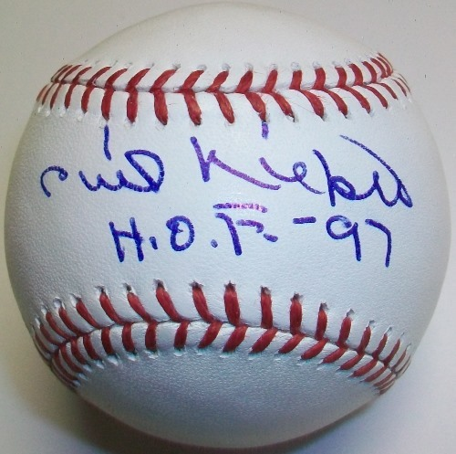 "Photo of Phil Niekro ""HOF 97"" Inscription Baseball"