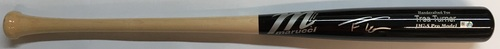 Trea Turner Autographed Game Model Marucci Bat