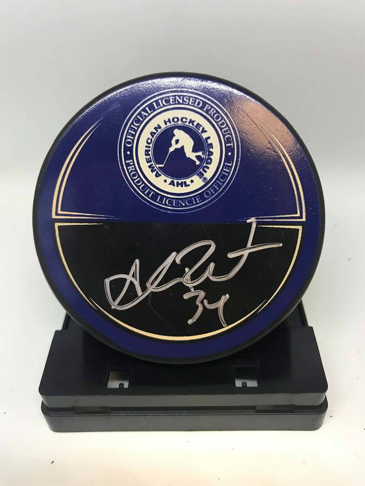 2012 AHL All-Star Classic Souvenir Puck Signed by #34 Alex Plante