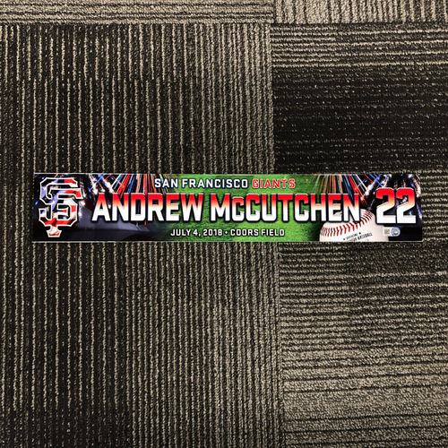 Photo of San Francisco Giants - 2018 4th of July Locker Tag - Andrew McCutchen
