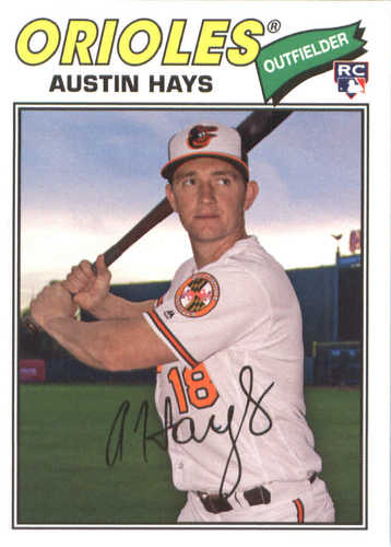 Photo of 2018 Topps Archives #186 Austin Hays RC