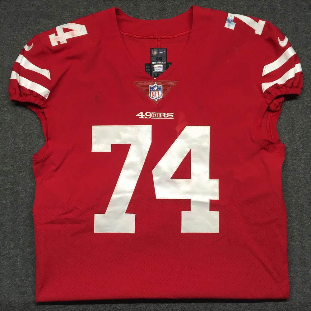huge discount 9c15b c5ec6 NFL Auction | STS - 49ers Joe Staley game worn 49ers jersey ...