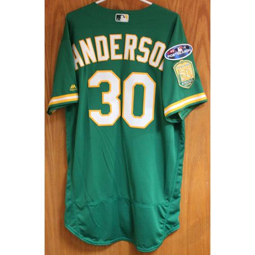 Team Issued Brett Anderson 2018 Jersey w/ Postseason Patch
