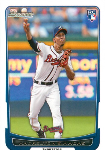 Photo of 2012 Bowman Draft #33 Andrelton Simmons RC