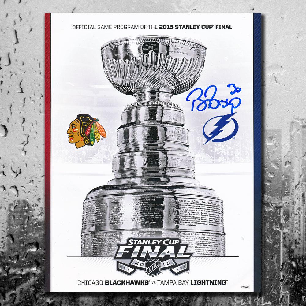 Ben Bishop 2015 Stanley Cup Finals Chicago vs. Tampa Bay Signed Official Game Program