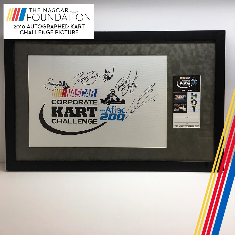 NASCAR's Autographed 2010 Kart Challenge picture!
