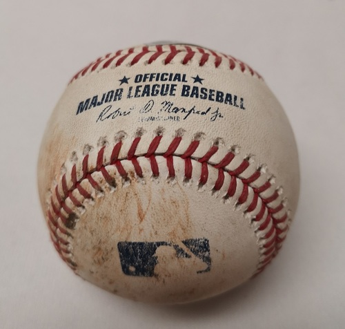 Photo of Authenticated Game Used Baseball - Aledmys Diaz Single against Joe Kelly (August 8, 2018 vs BOS). Bottom 9.