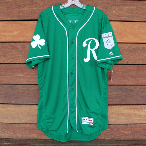Photo of Game-Used Saint Patrick's Day Jersey: Terrance Gore (KC @ SF - 3/17/19) (Size 44)