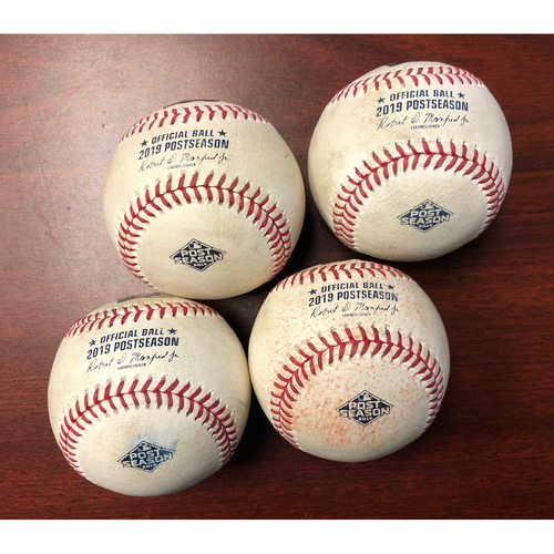 Photo of ALDS Game Used Baseball Package: Avisail Garcia First Career 4-Hit Post Season Game - Tuesday, October 8, 2019 v HOU