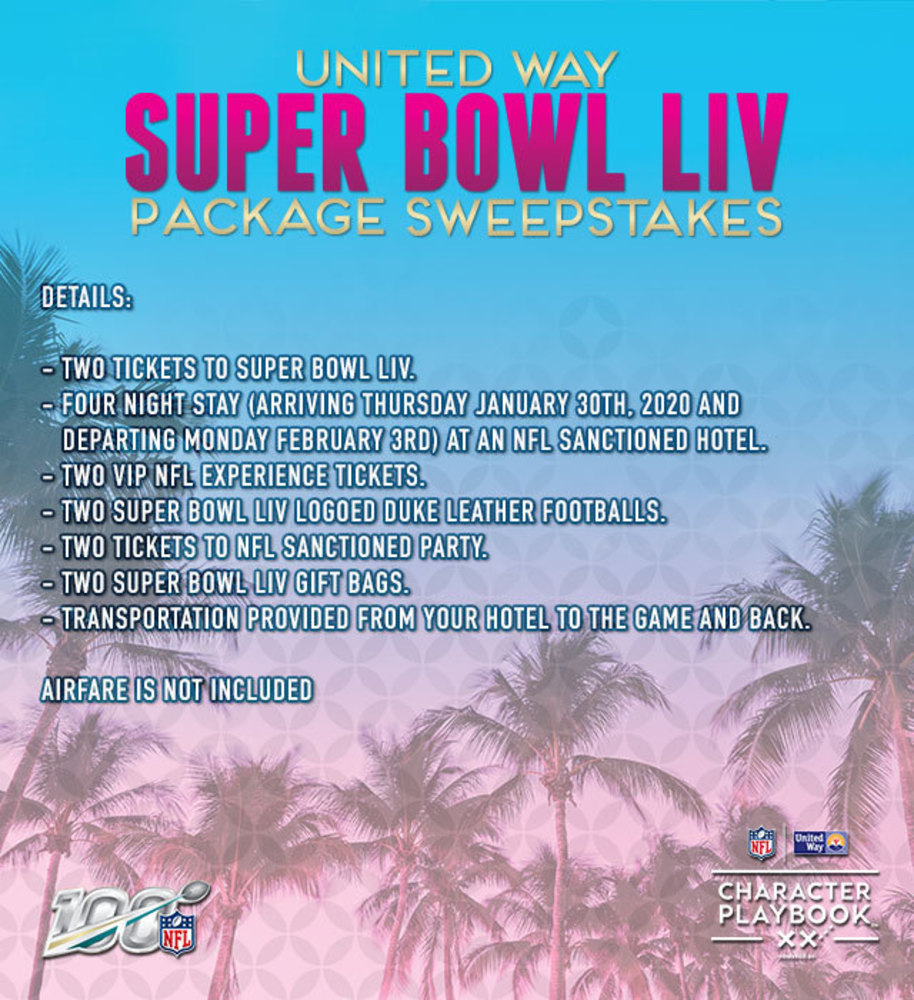 United Way Super Bowl LIV Sweepstakes