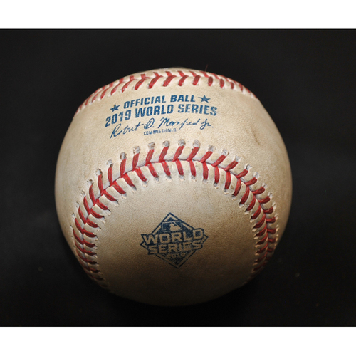 Photo of Game-Used Baseball: 2019 World Series - Game 3: Pitcher: Joe Smith, Batter: Howie Kendrick (Single) - Bot 8