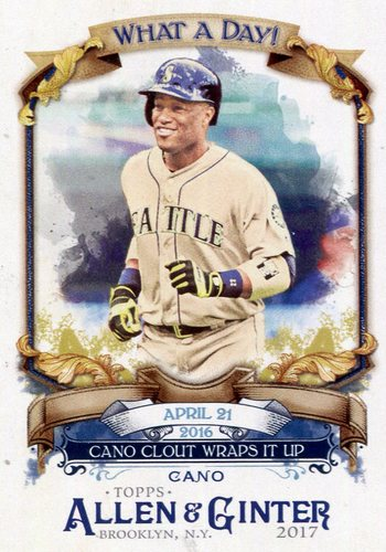 Photo of 2017 Topps Allen and Ginter What a Day #WAD53 Robinson Cano