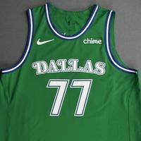 Luka Doncic - Dallas Mavericks - Classic Edition (1981-90 Home Uniform) Jersey - Christmas Day '20 - Scored Team-High 27 Points