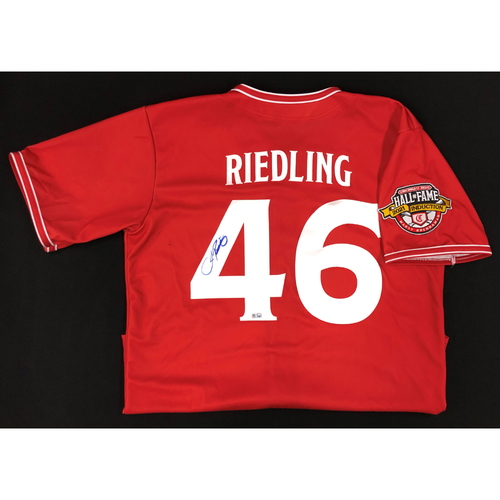 John Riedling - AUTOGRAPHED Game Used Jersey: Reds Hall of Fame Legends Game