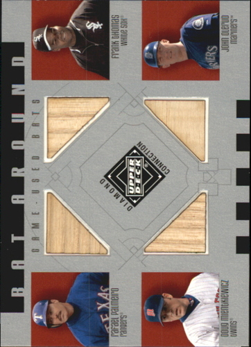 Photo of 2002 Upper Deck Diamond Connection Bat Around Quads #PTMO Rafael Palmeiro/Frank Thomas/Doug Mientkie