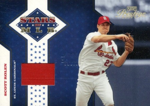 Photo of 2005 Playoff Prestige Stars of MLB Material Jersey Prime #14 Scott Rolen