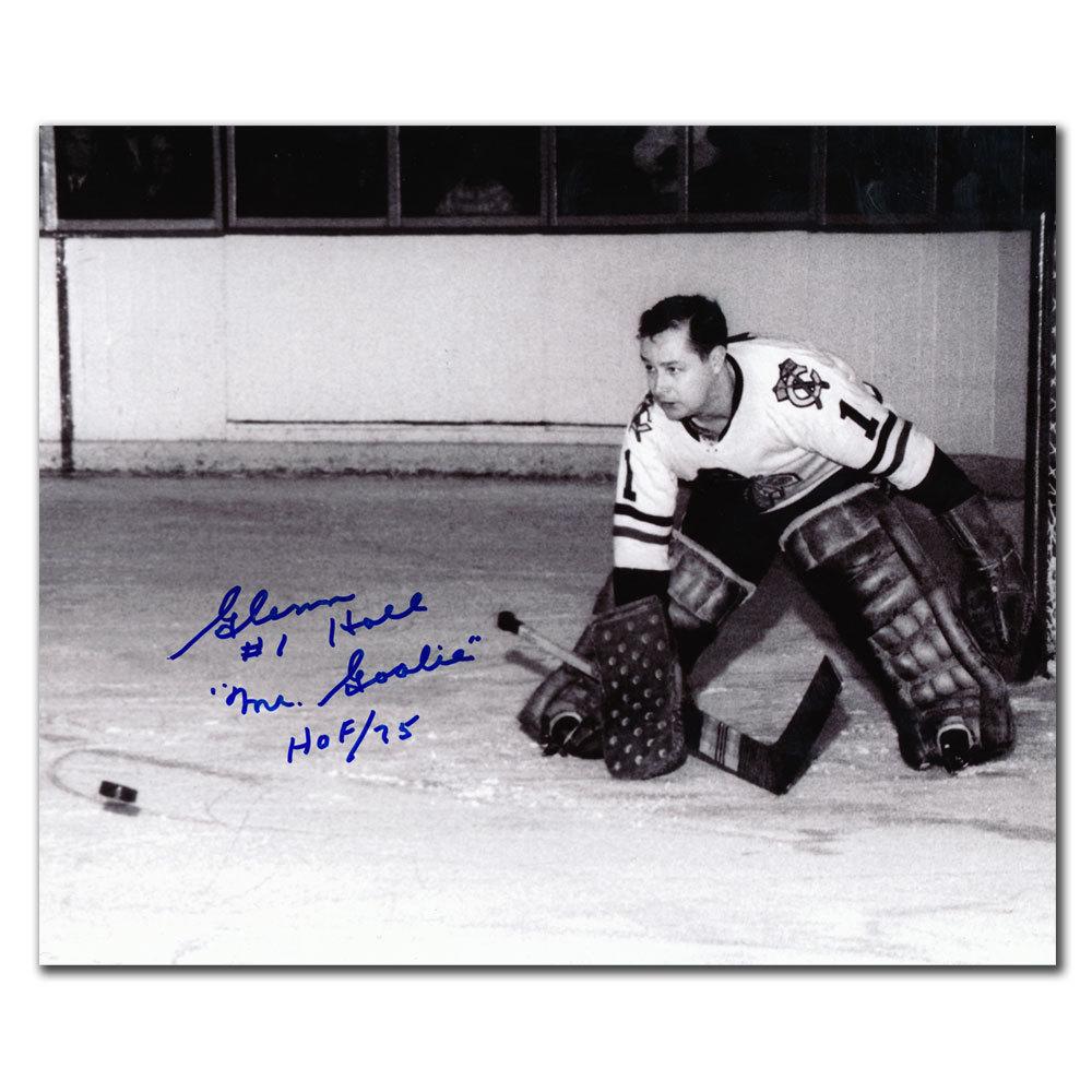 Glenn Hall Chicago Blackhawks Mr. Goalie HOF Autographed 8x10