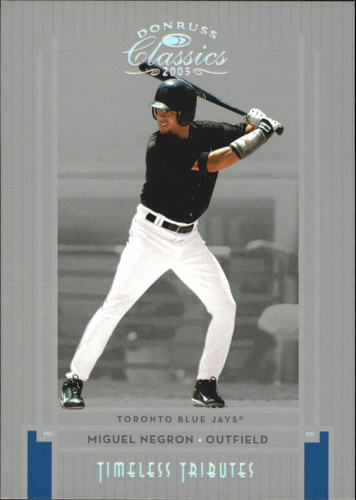 Photo of 2005 Donruss Classics Timeless Tributes Silver #202 Miguel Negron