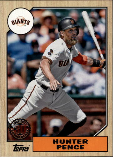 Photo of 2017 Topps '87 Topps #8743 Hunter Pence