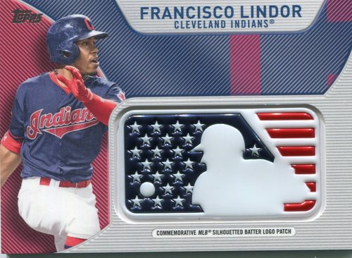 Photo of 2017 Topps Independence Day MLB Logo Patch #IDMLFL Francisco Lindor