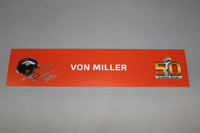 NFL - BRONCOS VON MILLER SIGNED SB50 LOCKER ROOM SIGN