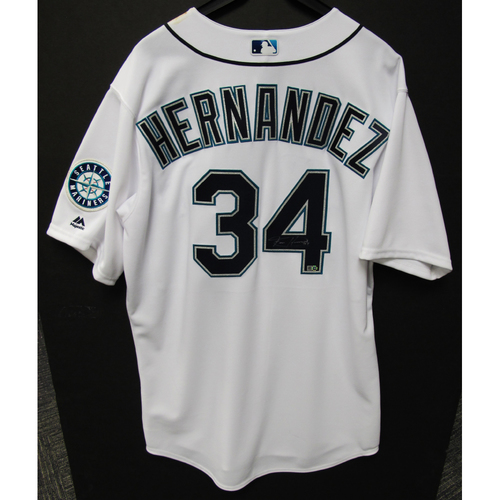 Photo of Felix Hernandez Autographed Club House Jersey - 3-1-2017 - Size 50