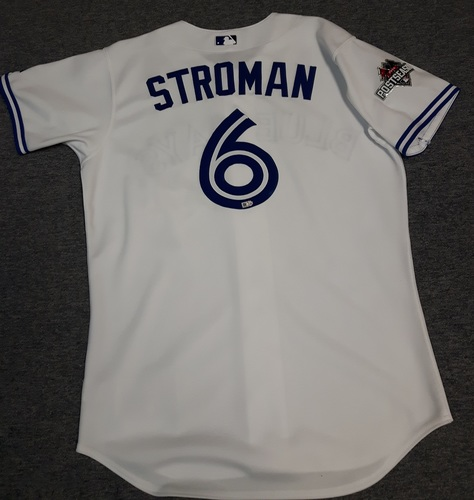 Photo of Authenticated Team Issued Jersey - #6 Marcus Stroman (2015 Postseason). Size 44