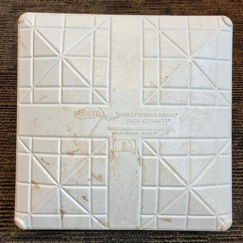 Photo of Game-Used Base from Pirates vs. Giants on 5/13/18 - Mother's Day - 3rd Base Used During Innings 1-3