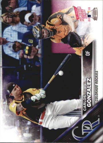 Photo of 2016 Topps Update #US218 Carlos Gonzalez HRD