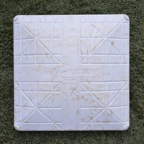 Photo of Game Used Base - 3rd Base, Innings 7-10 - Flores Hits Walk-Off HR in 10th Inning, Sets Franchise Record for Walk-Off RBI's - Mets vs. Phillies - 7/9/18