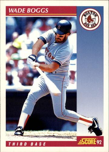 Photo of 1992 Score #660 Wade Boggs