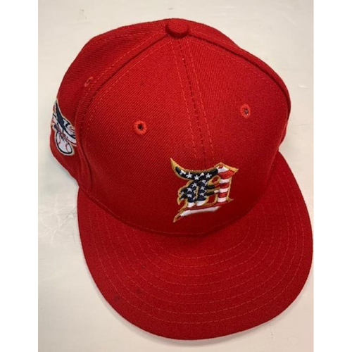 Photo of Game-Used Stars and Stripes Cap: Tim Remes