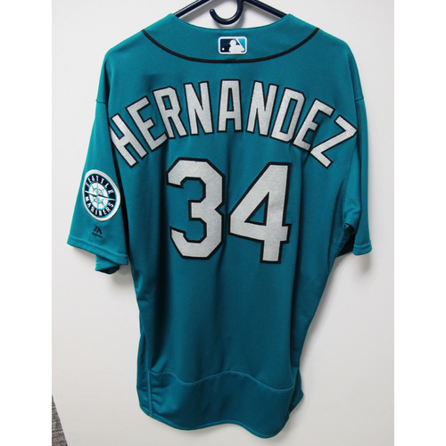 Photo of Felix Hernandez 2016 Team-Issued Green Jersey