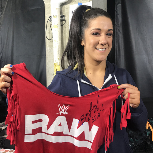 Photo of Bayley WORN & SIGNED T-Shirt (Survivor Series - 11/18/18)