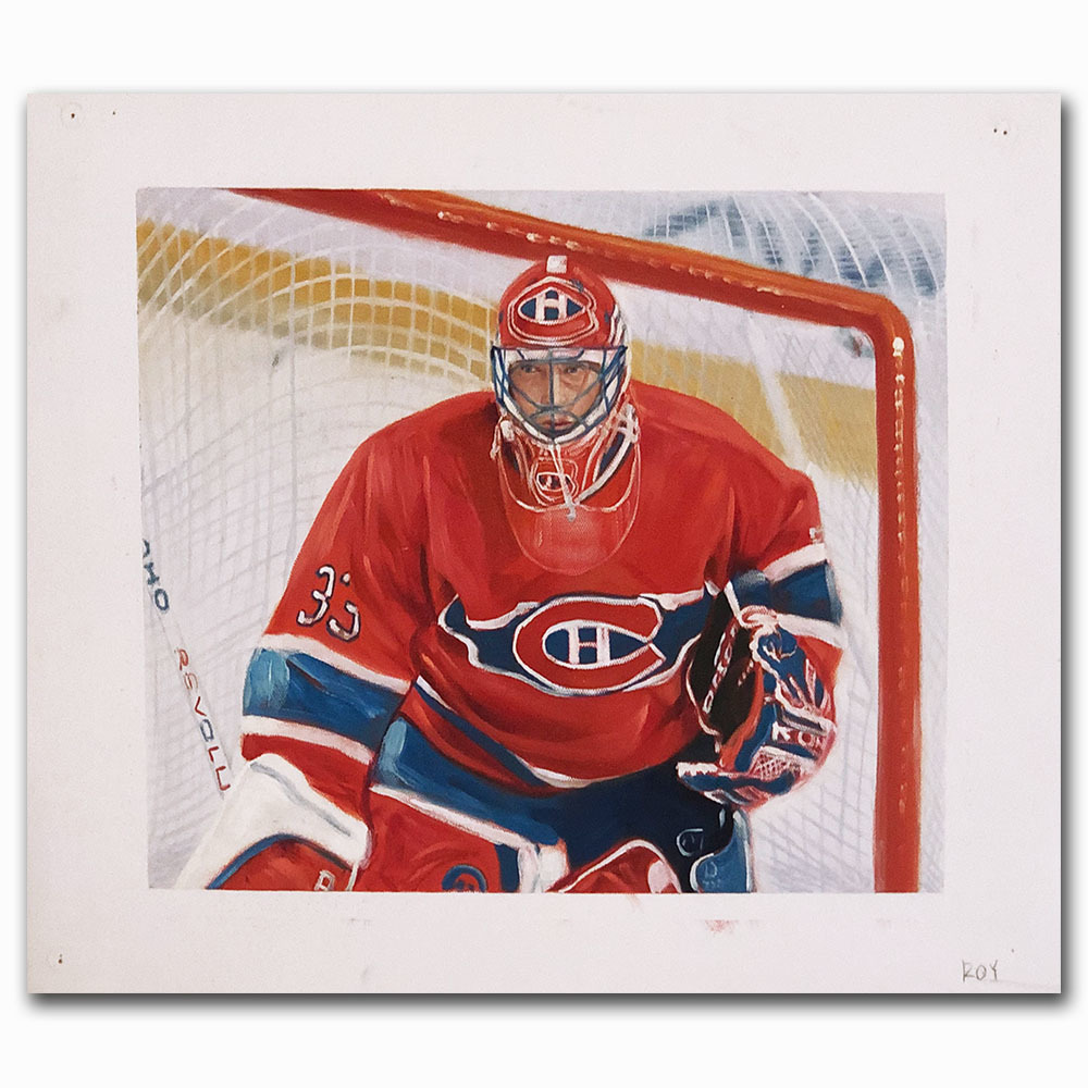 Patrick Roy Upper Deck Trading Card Original Artwork - Limited Edition 1/1