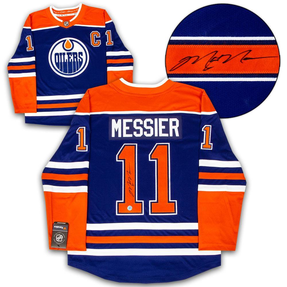 Mark Messier Edmonton Oilers Autographed Fanatics Alternate Hockey Jersey