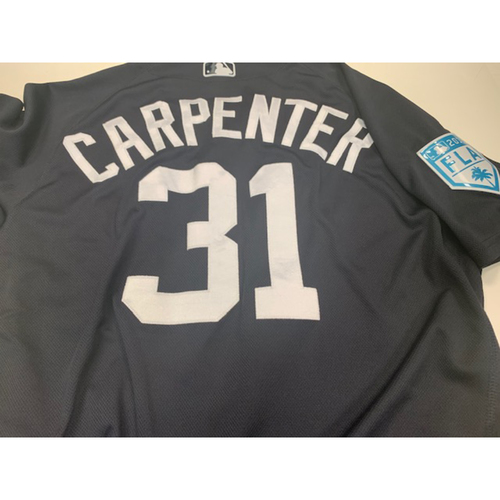 Photo of Team-Issued Ryan Carpenter Home Spring Training Jersey