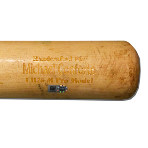 Photo of Michael Conforto #30 - Game Used Cracked Bat - Mets vs. Phillies - 7/6/2019